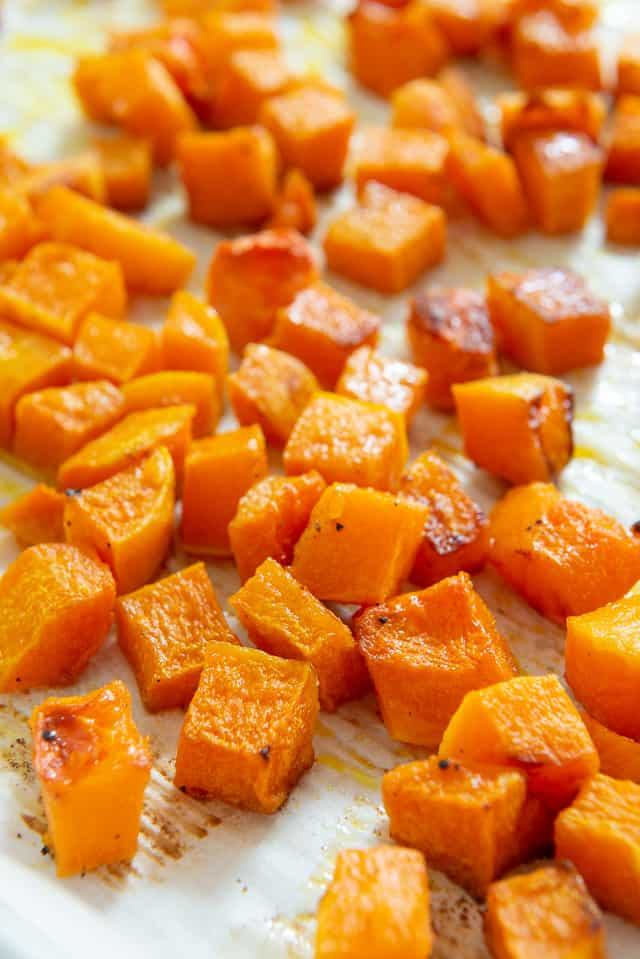 How to Cut Butternut Squash into perfect cubes or slices #butternutsquash #butternut #cubes #howtocook