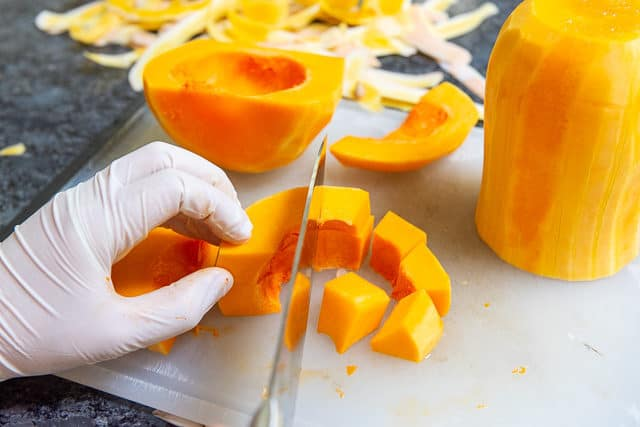 Cutting a Butternut Squash
