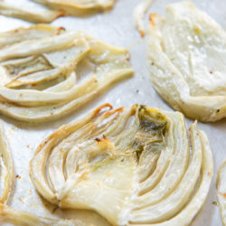 Roasted Fennel In Slices on Sheet Pan