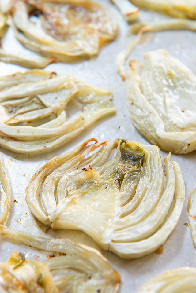 Roasted Fennel - In Slices on Sheet Pan
