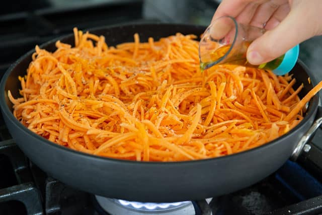 Shredded Sweet Potato Recipe