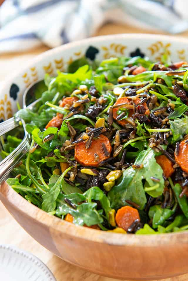 Wild Rice Salad - Healthy, hearty and flavorful! #wildrice #wildricesalad #salad #healthy #recipe