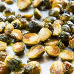 Oven Roasted Brussel Sprouts On a Sheet Pan
