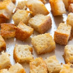 Croutons On a Sheet Pan