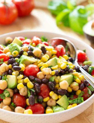 Corn and Avocado Bean Salad