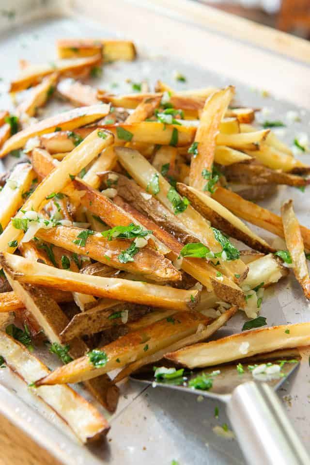 Baked French Fries with Parsley and Garlic