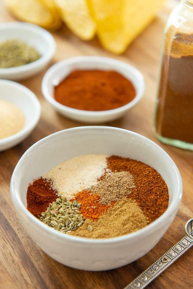 Taco Seasoning with Paprika, Garlic Powder, Oregano