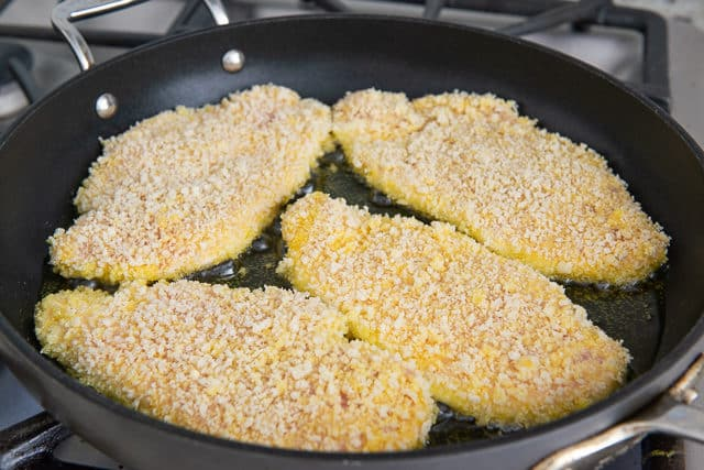 Panko Crusted Chicken - Fried in Olive Oil for Chicken Milanese