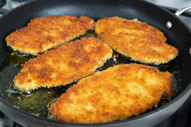 Panko Breaded Chicken - Chicken Cutlets Fried in Olive Oil
