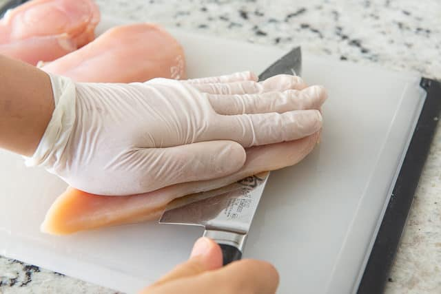 Cutting Chicken Breasts Through Center to Make Cutlets