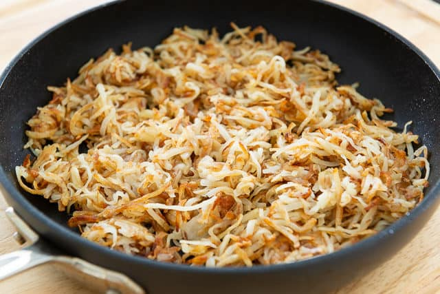 Homemade Hash Browns - In a Skillet Made from Scratch with Fresh Potatoes
