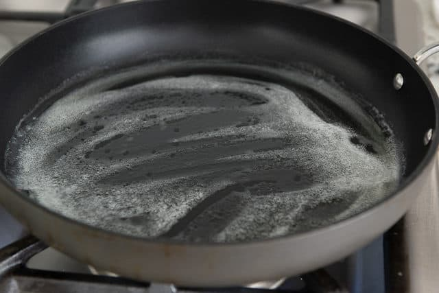 Melted Butter in a Nonstick Skillet