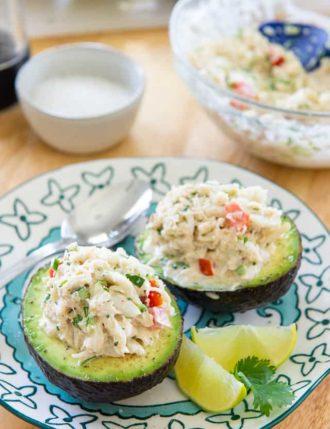 Crab Stuffed Avocado