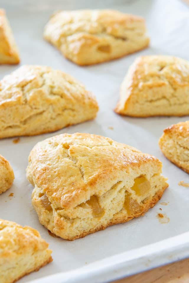 Ginger Scone Recipe - with Candied Ginger Pieces