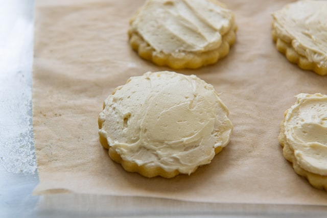 Buttercream Frosted Sugar Cookies - Dye Free and Natural