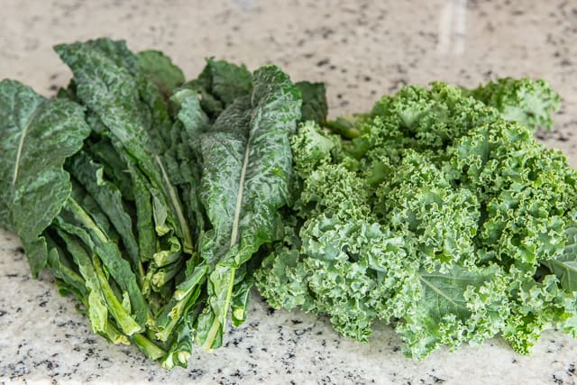 Lacinato Kale and Curly Kale