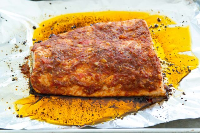 Baked Cajun Salmon on Foil