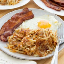 Hash Browns Made from Scratch on Plate