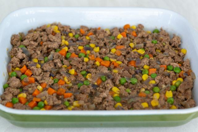 Shepherd's Pie Lamb Vegetable Mixture in 8x11 Casserole Dish