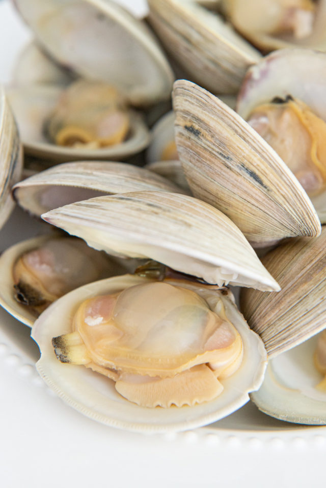 Freshly Steamed Littleneck Clams That Were Soaked