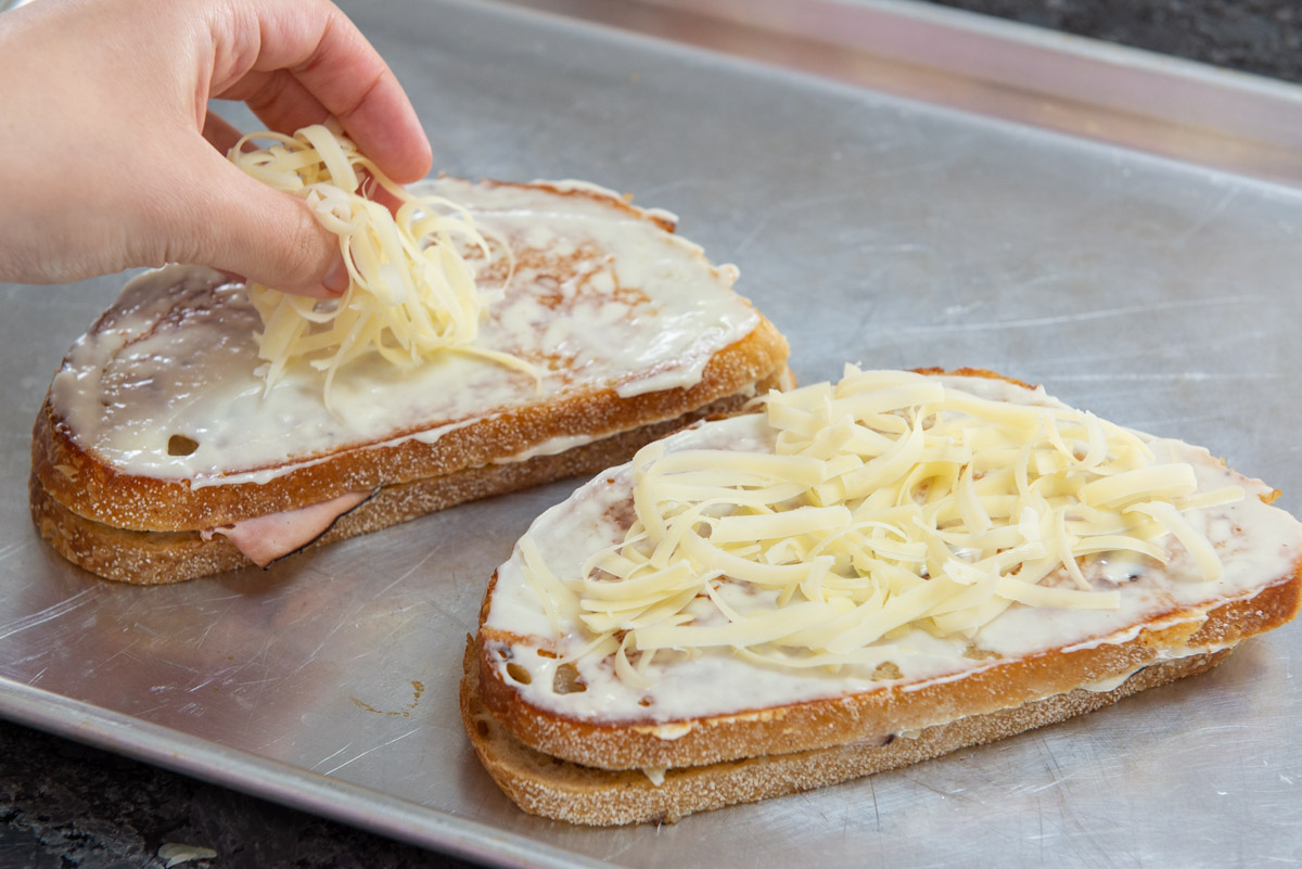 Adding Gruyere On Top of Sandwiches Before Broiling